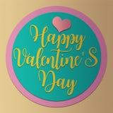 Valentine`s day card PaperCraft vintage style Royalty Free Stock Photo
