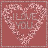 Valentine\'s Day card pink Royalty Free Stock Photography