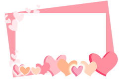 Valentine's Day card with pink hearts Royalty Free Stock Photos