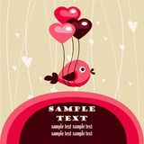 Valentine's day card with place for your text. Illustration Stock Photography