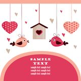 Valentine's day card with place for your text,. Illustration Royalty Free Stock Photography