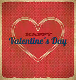 Valentine's Day card with polka dots Stock Images