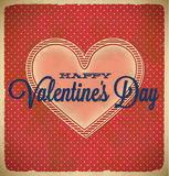 Valentine's Day card with polka dots Stock Photography