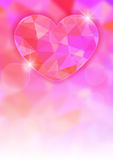 Valentine's Day card with precious heart  on light effect background Stock Images