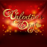Valentine's day card on red background Stock Photos