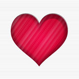 Valentine`s day card with red heart Royalty Free Stock Photo