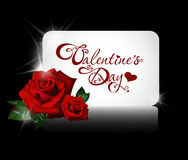 Valentine's day card with roses vector illustration