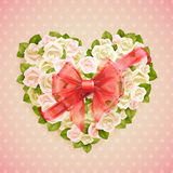 Valentine`s Day card with roses Stock Photos