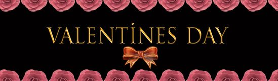 Valentine`s day card and sale card stock illustration