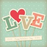 Valentine`s day card - scrapbook style. stock illustration