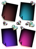 Valentine's Day Card Set Royalty Free Stock Photo