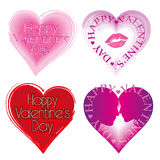 Valentine's Day Card set with hearts. royalty free illustration