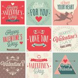 Valentine`s day card set. Stock Photos