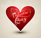 Valentines day card for shiny colorful heart desig Royalty Free Stock Image