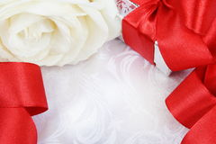 Valentine's Day Card Silk Background Stock Image