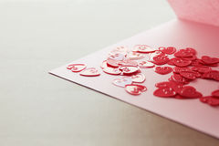 Valentine's  day card with small hearts Royalty Free Stock Photo
