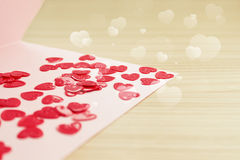 Valentine's  day card with small hearts Stock Image
