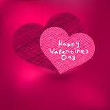 Valentine's Day Card template. + EPS8. Vector file Royalty Free Illustration