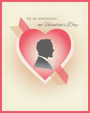 Valentine's Day card template Stock Image