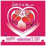 Valentine's Day card Stock Image