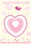 Valentine's day card. vector Stock Images