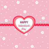 Valentine`s day card. Vector illustration Stock Photo