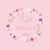 Valentine`s day card. Vector illustration Stock Photography