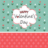 Valentine`s day card. Vector illustration Stock Image