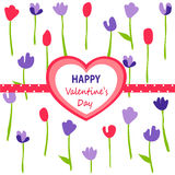 Valentine`s day card. Vector illustration Royalty Free Stock Photos