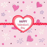 Valentine`s day card. Vector illustration Royalty Free Stock Image