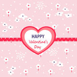 Valentine`s day card. Vector illustration Stock Images
