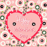 Valentine`s day card. Vector illustration Royalty Free Stock Photo