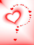 Valentine S Day Card, Vector, Romantic Heart Royalty Free Stock Photography