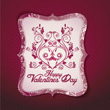 Valentine\\\'s day card vector template Stock Photo