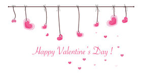 Free Valentine S Day Card With Hanging Sweet Hearts Vector Greeting Card Stock Image - 65264311
