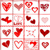 Valentine's Day card, wrapping paper Stock Images