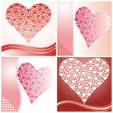 Valentine's day cards Stock Image