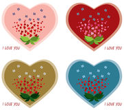 Valentines day cards. Stock Images
