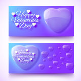 Valentine's Day Cards. Banners set. Design concept Royalty Free Stock Photos