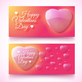 Valentine's Day Cards. Banners set. Design concept Stock Photo