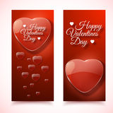 Valentine's Day Cards. Banners set. Design concept Stock Image