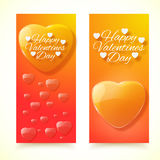 Valentine's Day Cards. Banners set. Design concept Royalty Free Stock Photo