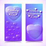 Valentine's Day Cards. Banners set. Design concept Stock Photos
