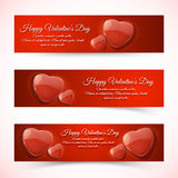 Valentine's Day Cards. Banners set. Design concept Stock Images