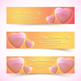 Valentine's Day Cards. Banners set. Design concept Royalty Free Stock Image