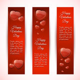 Valentine's Day Cards. Banners set. Design concept Royalty Free Stock Photography