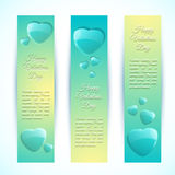 Valentine's Day Cards. Banners set. Design concept Royalty Free Stock Images