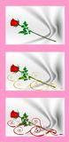 Valentine's Day cards with red roses. Cartoon images of love. A collection of images. Royalty Free Stock Photo