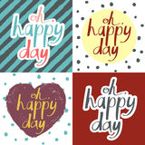 Valentine's Day cards set Royalty Free Stock Photography
