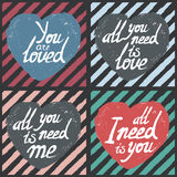 Valentine's Day cards set Stock Photography